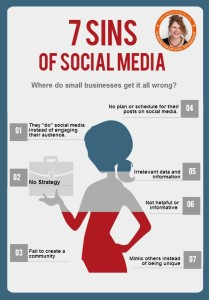 7 Sins of Social Media Infographic