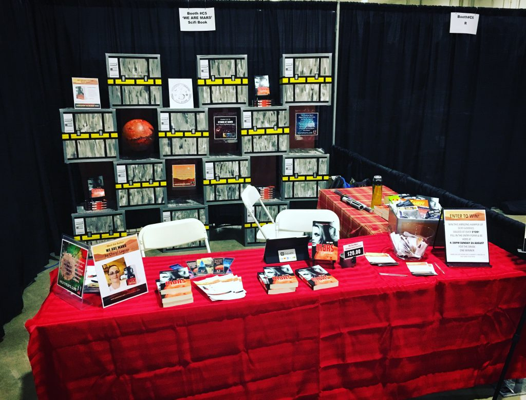 Table at Kelowna Comic Con for We Are Mars book promo