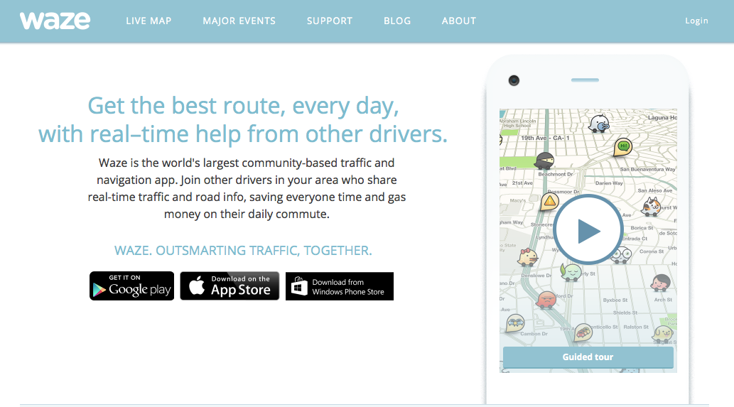 how to set a route in waze