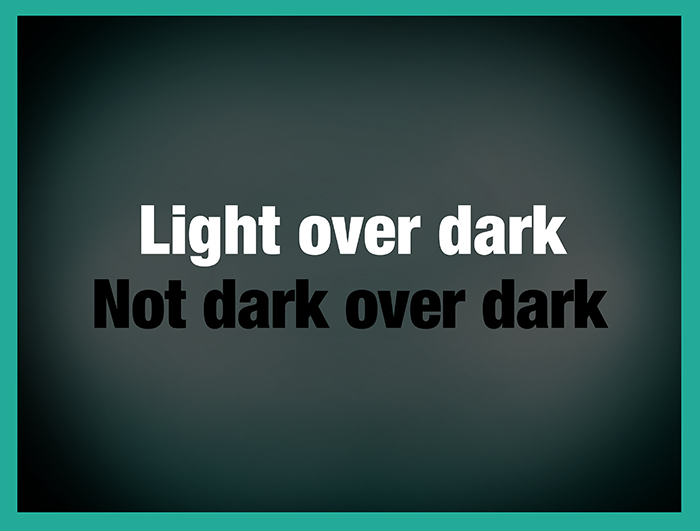 Dark Color slide