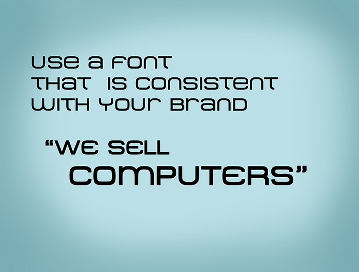 Use a consistent font(1)