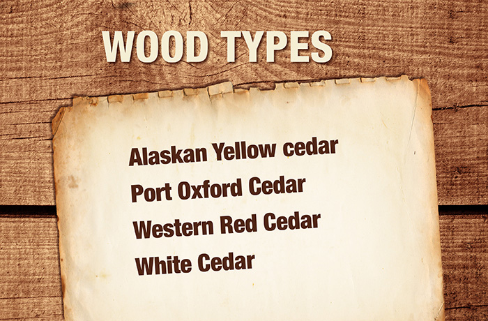 wood types slide