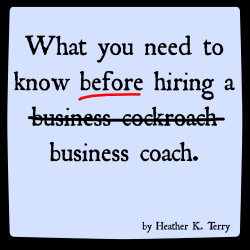 Before hiring a business coach