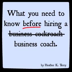 Before hiring a business coach