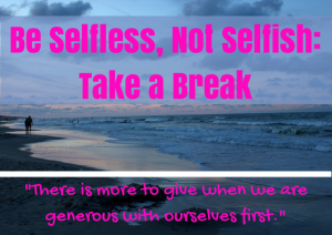 Be Selfless, Not Selfish (1)