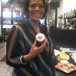 Me at my (ice storm ridden) book launch - more cupcakes for me! :)