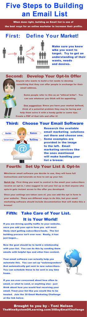 Toni Nelson_5 Steps To Building An Email List