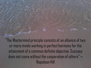 Napoleon Hill quote on Ocho Rios Beach