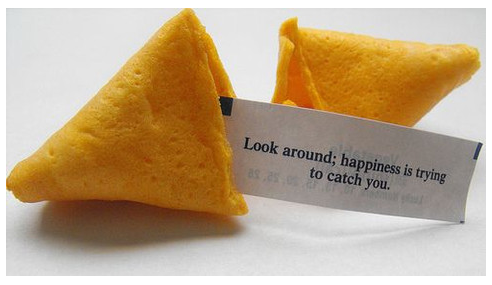 Look around. Happiness is trying to catch you.
