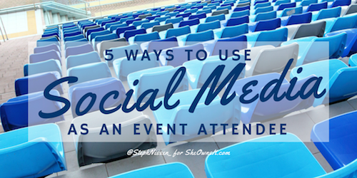 5 ways use social media event attendee