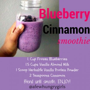 Blueberry Cinnamon Smoothie