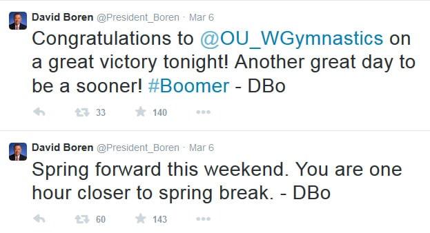 President Boren Twitter