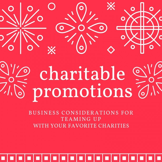 charitable promotions