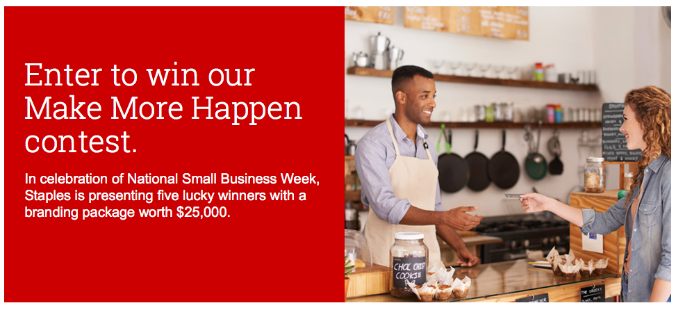 Your Business Could Win a $25,000 Branding Package from Staples! #MakeMoreHappen
