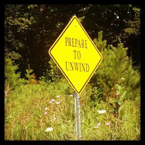 Caution Prepare to Unwind Sign