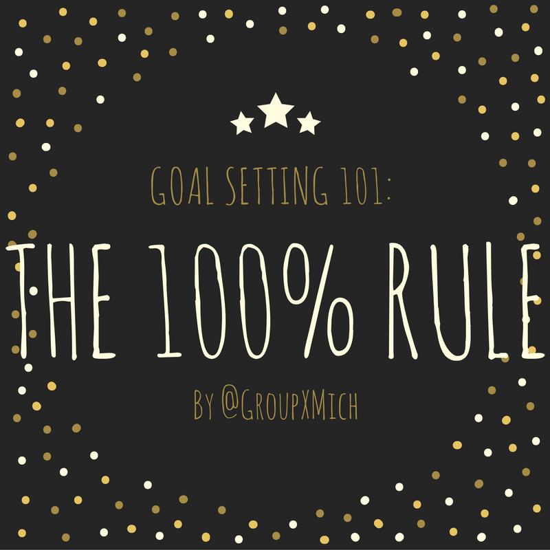 Goal setting: The 100-percent rule