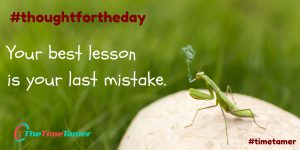thought for the day mistake