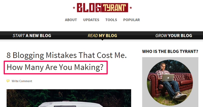 BlogTyrant Headline