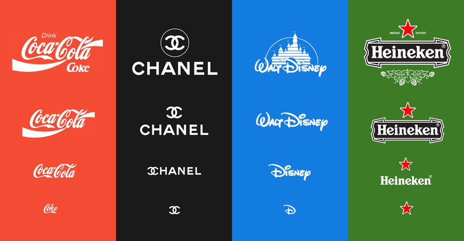 How big brands use responsive logos.